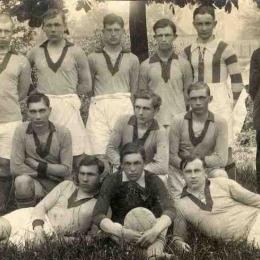 Reprezentacja Łęczycy w futbolu, fot. A.Konecki (1923 r.) Ze zbiorów Muzeum w Łęczycy.
