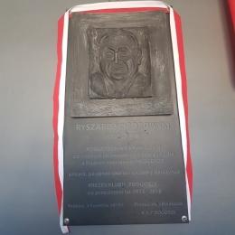 Odsłonięcie tablicy pamiątkowej Ryszarda Ściborowskiego