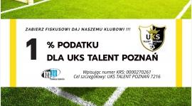 Przekaż1% podatku na UKS Talent Poznań