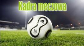 Kadra na mecz mistrzowski Pogoń Zduńska Wola - Czarni Rząśnia
