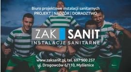 Firma ZAKSANIT - instalacje sanitarne w jednej drużynie z Orłem Myślenice!