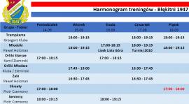 Harmonogram treningów 14.09-20.09