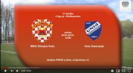 SENIORZY: MKS Olimpia Koło - Unia Swarzędz 20.04.2019 [VIDEO]
