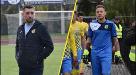 Arkadiusz Bator i Adrian Szady po meczu z Górnikiem