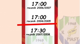 Zmiana terminu treningu rocznika 2004/2005!