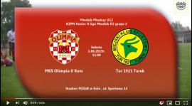 ROCZNIK 2007: MKS Olimpia Koło - Tur Turek 01.06.2019 [VIDEO]