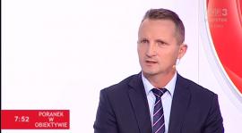 Prezes Sławomir Kopczewski o lokalnej piłce w TVP3 Białystok
