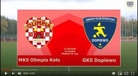 SENIORZY: MKS Olimpia Koło - GKS Dopiewo [VIDEO]