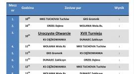 XVII Halowy Turniej Piłki Nożnej - Ciężkowice 2020 - TERMINARZ