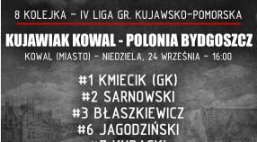 Skład na dzisiejszy mecz w Kowalu