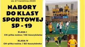 Nabór do Klasy I i IV sportowej UKS Talent Poznań w SP19
