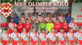 SENIORZY: Kadra MKS Olimpii Koło - IV liga sezon 2018/2019