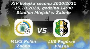 Zapowiedź XIV kolejki sezonu 2020/2021:  MLKS Polan Żabno vs LKS Pogórze Pleśna