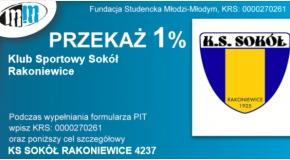 Zachęcamy do przekazywania 1% podatku na rzecz Sokoła.