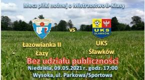 """12 kolejka o Mistrzostwo """"AP SPORT"""" B Klasa Sosnowiec: Łazowianka II Łazy - UKS Sławków"""
