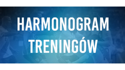 Harmonogram treningów