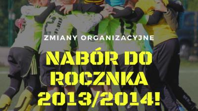 Zmiany w roczniku 2013/2014