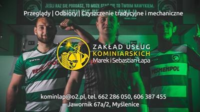Zakład Usług Kominiarskich Marek i Sebastian Łapa partnerem Orła Myślenice!