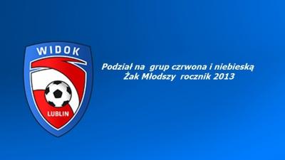 Podział na grupy Żak Młodszy rocznik 2013 oraz harmonogram treningów