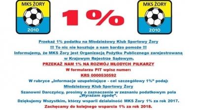 1% dla MKS Żory