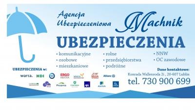 Promocja ubezpieczeń komunikacyjnych dla członków klubu oraz ich rodzin w ubezpieczalni Machnik