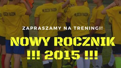 Nabór dla rocznika 2015!!!