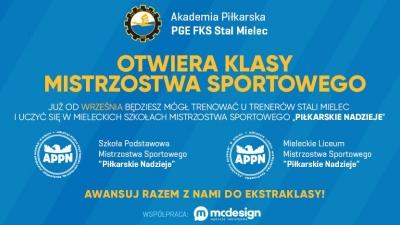 MSMS Piłkarskie Nadzieje z klasami FKS Stal Mielec