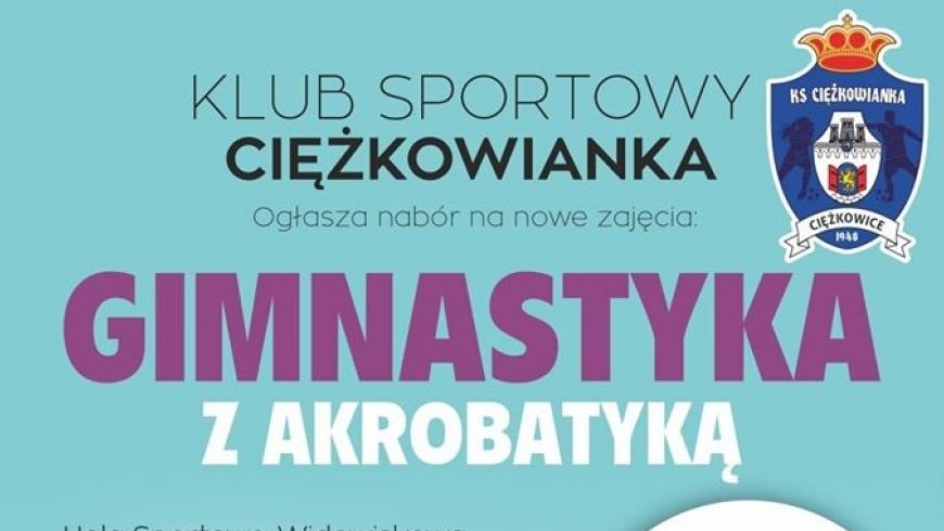 Zajęcia z Akrobatyki i Gimnastyki Sportowej ZAPISY !!!