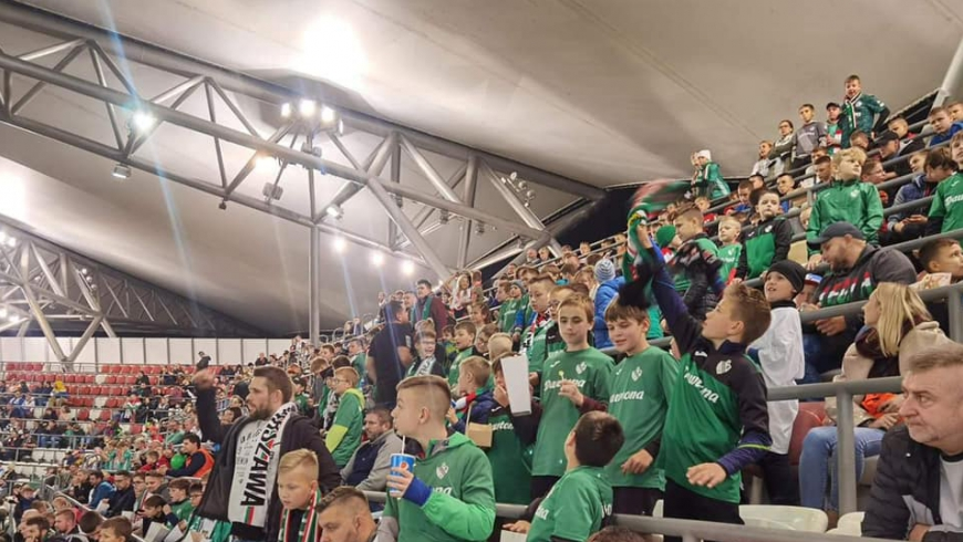 Dzieci z Błonianki były na meczu Legia - Raków Częstochowa