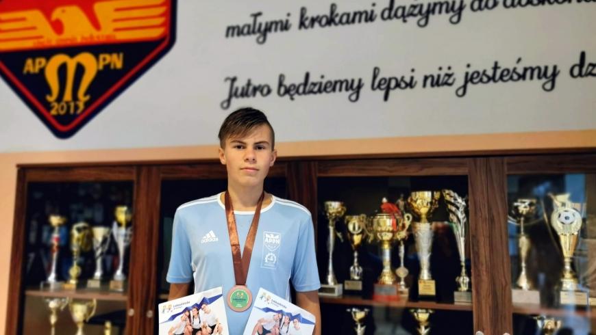 Igor Sztuka z medalem mistrzostw województwa