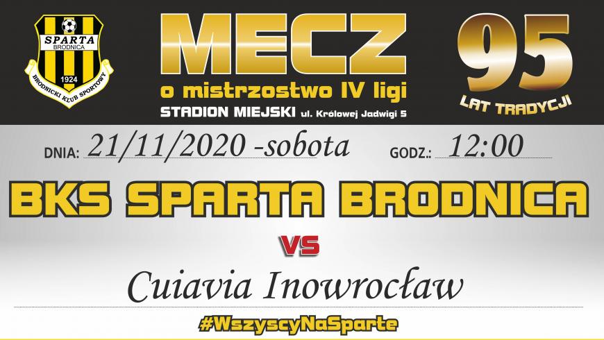 17. kolejka: Sparta vs. Cuiavia Inowrocław