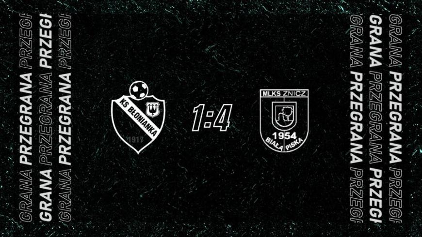 Skrót meczu Błonianka Błonie 1-4 Znicz Biała Piska