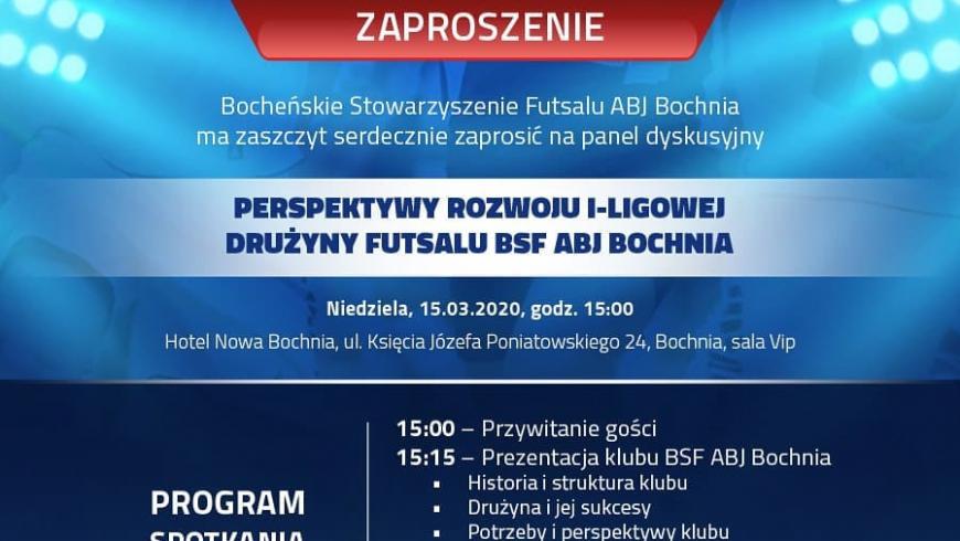 Zaproszenie na konferencję dotyczącą rozwoju naszego klubu.